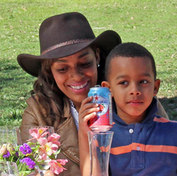 Zahrah and her son Jade