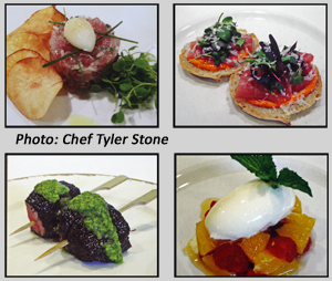 Chef Tyler Stone's appetizers